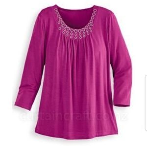 ALFRED DUNNER top with Starburst neck trim